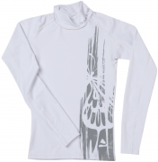Rash Guard White Ocean, Ladies, langarm