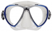Synergy Twin Trufit, Blau/Silber, Silikon Transparent