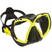 Maske Mission, black silikone / hot lime