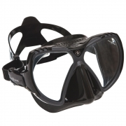 Maske Mission, black silicone / grey