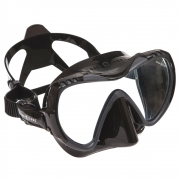 Maske Mission, MIDI, black silicone / grey
